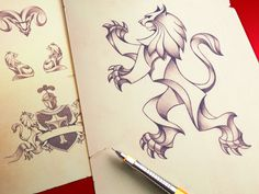 Heraldry Pencil Illustration by Ramotion