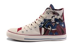 d0fb61a57555 Converse Shoes Blue White Authentic DC Comics- Superman Chuck Taylor All  Star Womens Mens Canvas Sneakers High Tops - Dereo Shop