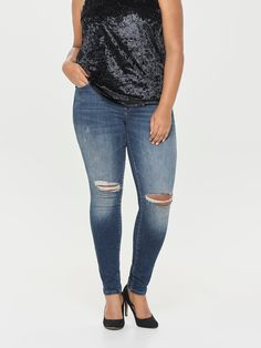 Damen ONLY CARMAKOMA Curvy Frozen Reg SK Jeans blau   05713752981040 -  Kategorie  Damen Bekleidung 970b0b2d0e
