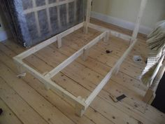 Picture of Attach the uprights for the headboard