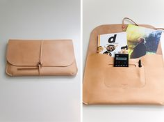 Form meets functions in a hand cut and sewn laptop portfolio by Mjolk.
