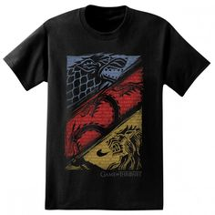 Game of Thrones Stark Targaryen Lannister Sigil T-Shirt