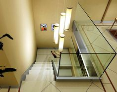 Barandilla de cristal para escalera de casa unifamiliar. #escalera #barandilla #vidrio #cristal Stairs, Home Decor, Home, Verandas, Stairway, Insulation, Crystals, Decoration Home, Room Decor
