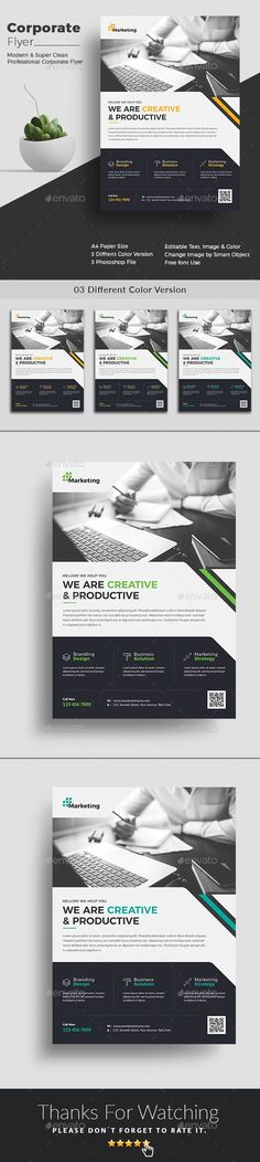Corporate Flyer Template This flyer is made in photoshop the files included are help file and photoshop psd¡¯s. All psd¡¯s are very well organized proper name groups and proper name layers. Very easy to edit very easy to insert images very easy to change text.
