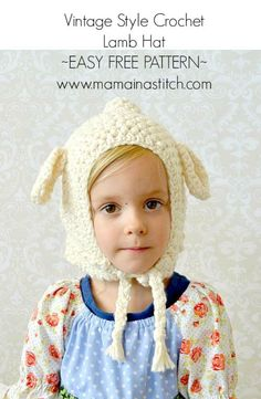 Beginner Easy Lamb Hat Pattern by Mama in a Stitch. Crochet this cute lamb hood for your little one with super soft Lion Brand Nature's Choice Organic Cotton (3 - 4 skeins) and a size J crochet hook!