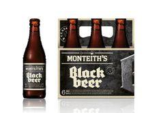 Monteiths Craft Beer Packaging by Matt Hammond, via Behance