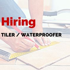 Hiring!!! Tiler / Waterproofer The perfect applicant for this job will: •Have at least three year of experiences laying tiles; •Know ceramic tiles and able to read drawings; •Will have an excellent finishing skills; •Have tidy work habits; Be honest, trustworthy and friendly; •Good team player, who is able to work unsupervised as well. Wages depend on your skills, starting from $18/h ONLY EXPERIENCED TRADESMAN NEEDS APPLY! Click here: http://jpc-nz.com/Hot-jobs/default.aspx