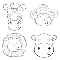 Descriptions Safari Adventure Paper Masks - Design : Safari Adventure - Material…