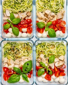 Try these Caprese Chicken Zoodles for Clean Eating Meal Prep! - Clean Food Crush Try these Caprese Chicken Zoodles for Clean Eating Meal Prep! Meal Prep Bowls, Easy Meal Prep, Healthy Meal Prep, Healthy Recipes, Keto Recipes, Clean Eating Chicken, Clean Eating Diet, Healthy Eating, Healthy Food
