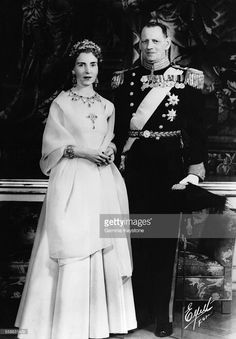 Queen Ingrid wore this tiara for an official portrait circa 1957.