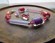 winter or summer color palette  bracelet . NO by StoneSavvyJewelry