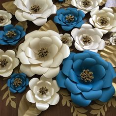 Wedding Decor Large Paper Flower Backdrop Set of 15