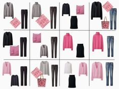 While the French 5-Piece Wardrobe is great for experimenting with new colors or trendy items, it can also be an opportunity to build your wardrobe around your favorite colors. If you like pink - all