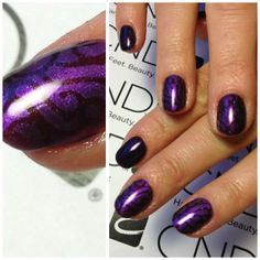 CND Shellac Dark Lava & CND Shellac Purple Purlpe med Additives Violet Pearl