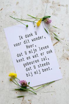 Ik dank u dat u mijn leven kent! http://www.morgensterkaarten.nl/