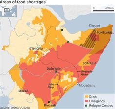 Horn of africa map picture maps and pinterest map pictures map of the horn of africa showing the areas of food shortage 2011 gumiabroncs Image collections