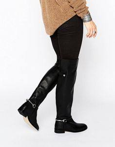 ASOS Kayden Leather Over the Knee Boots