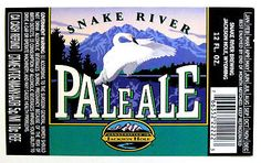 Snake-River-PALE-ALE-beer-label-WY-12oz-with-Swan Pale Ale Beers, Beer Label, Swan, Brewing, Public, River, Swans, Rivers