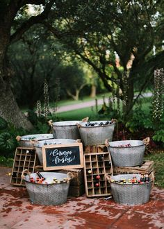 rustic outddor galvanized bucket of wedding drink stands Precisely what are Wedding Adornment Elements? Beer Wedding, Rustic Wedding, Mexican Wedding Reception, Vintage Mexican Wedding, Drinks Wedding, Cocktail Wedding Reception, Reception Party, Wedding Catering, Wedding Venues