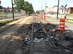 OLD TROLLEY TRACKS on Tennyson, March 11, 2012