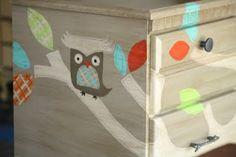 Child's woodsey dresser makeover