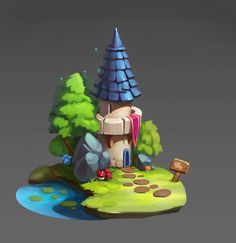 ArtStation - tower, Victoria Yakovleva