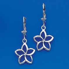 Sterling Silver lever back Plumeria earrings. Matching Rings, Bangles, Jewels, Clay Ideas, Sterling Silver, Personalized Items, Pendant, Earrings, Accessories