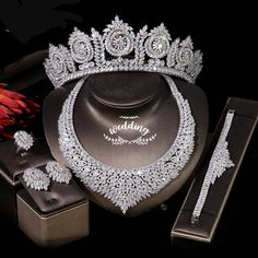 Silver Bridal Jewellery, Bridal Jewelry Sets, Silver Tiara, Wedding Jewelry, Silver Wedding Crowns, Wedding Hair, The Bling Ring, Bridal Necklace Set, Bride Accessories