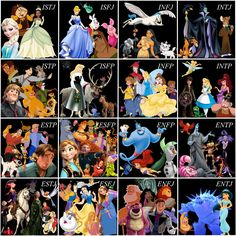 Disney Type Table (groups) - plus Hiccup & Toothless :)