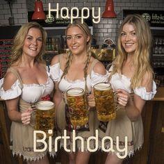 Happy Birthday Hot, Birthday Woman, Folk Festival, Beer Festival, Birthday Greetings, Birthday Wishes, Octoberfest Girls, Drindl Dress, Beer Maid