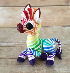 Cute rainbow zebra