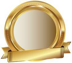Golden Seal PNG Clip Art Image