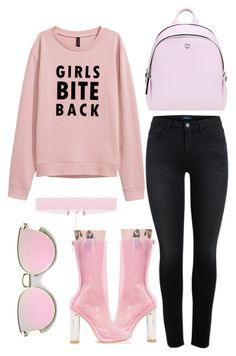 """Pale Pink"" by bokwitmebrunz ❤ liked on Polyvore featuring Cape Robbin, MCM and monochrome"