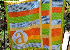 monogram quilt with links for other monogramming projects.