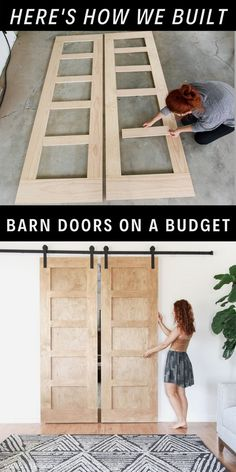 Diy Home Decor Easy, Diy Home Decor Bedroom, Bedroom Crafts, Home Decor Store, Diy Barn Door, Barn Doors, Diy Furniture Projects, Garden Projects, Diy Home Projects Easy
