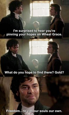 """""""I'm surprised to hear you're pinning your hopes on Wheal Grace"""" - George and Ross #Poldark"""