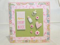 Baby shower card Sugar and Spice and by JessieAndMarieCards, $12.00 www.etsy.com/shop/JessieAndMarieCards
