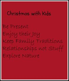 Christmas ideas to be present with kids.