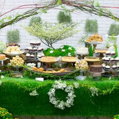Lord of the Rings themed, forest, woodland, wedding dessert table by Heaven in a Wild Flower