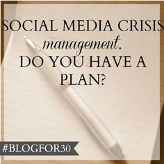 Social media crisis management – do you have a plan? Content Marketing, Social Media Marketing, Business Continuity Planning, Marketing Communications, Public Relations, Social Media Tips, How To Know, Management, Successful People