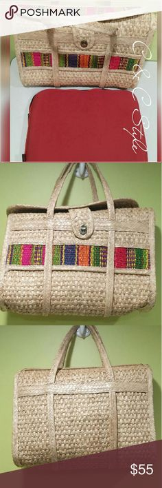 Selling this Stylish unique handwoven bag on Poshmark! My username is: coneill2659. #shopmycloset #poshmark #fashion #shopping #style #forsale #Handbags