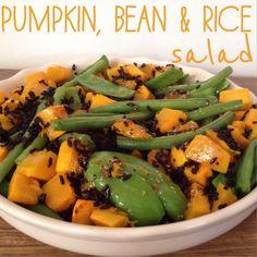 Pumpkin, Bean & Black Rice Salad