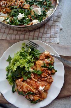 Lasaña al sartén (sin horno y lista en 25 minutos) | http://www.pizcadesabor.com/2014/10/02/lasana-al-sarten-sin-horno-y-lista-en-25-minutos/