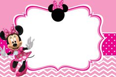 Download FREE Printable Minnie Mouse Pinky Birthday Invitation Template