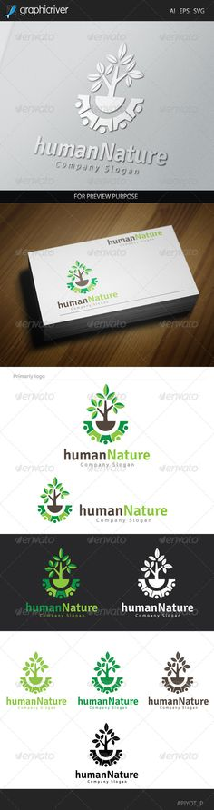 Human Nature Logo — Vector EPS #group #human • Available here → https://graphicriver.net/item/human-nature-logo/8641103?ref=pxcr