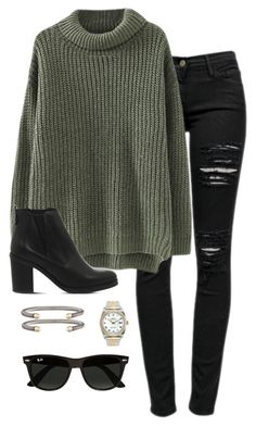 """I passed all my finals (':"" by daniellekenz ❤ liked on Polyvore featuring Frame Denim, Rolex, Ray-Ban, David Yurman and Office"