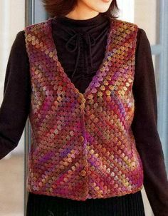 Crochet Sweater: Womens Vest - Crochet Vest - Wonderful Classic Vest