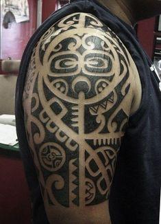 Marquesan style arm piece #tatau #tattoo #tamoko #polynesian #tribal #tribaltattoo #sandiego #hawaiian #blackwork #hawaiiantattoostribal