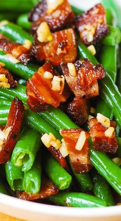 Side Recipes, Vegetable Recipes, Green Beans With Bacon, Sauteed Green Beans, Green Bean Recipes, Cooking Recipes, Healthy Recipes, Healthy Eats, Sandwiches