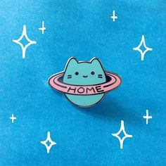 New enamel pin! Perfect for when Earth isn't your home planet.  These guys will be hitting the shop very soon! #babycatplanet